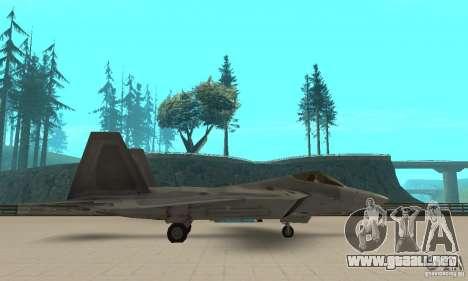 F-22 Grey para GTA San Andreas left