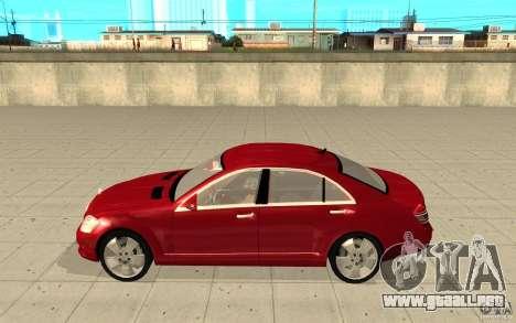 Mercedes-Benz S600 para GTA San Andreas left