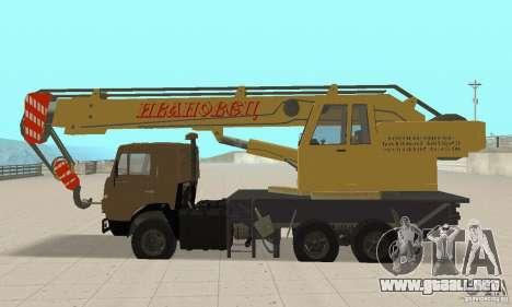 KAMAZ 53213 POLICÍA 4572 para la visión correcta GTA San Andreas