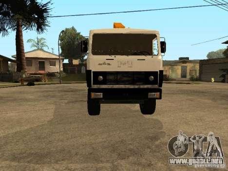 MAZ 54323 GRÚA para GTA San Andreas vista hacia atrás