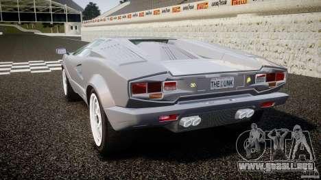 Lamborghini Countach para GTA 4 Vista posterior izquierda
