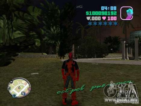 Deadpool para GTA Vice City segunda pantalla
