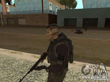 Captain MacTavish para GTA San Andreas sucesivamente de pantalla