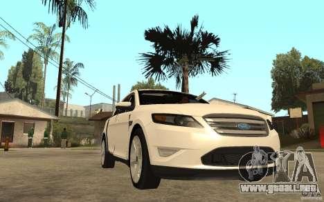 Ford Taurus 2010 para GTA San Andreas vista hacia atrás