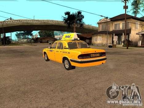 Volga GAZ-31105 Taxi para GTA San Andreas vista posterior izquierda