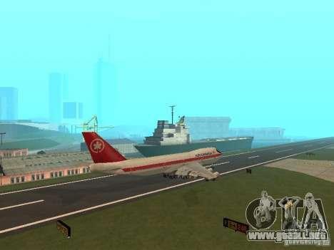 Boeing 747 Air Canada para GTA San Andreas vista hacia atrás