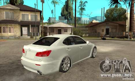 Lexus IS F 2009 para visión interna GTA San Andreas