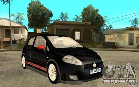 Fiat Grande Punto 3.0 Abarth para GTA San Andreas vista hacia atrás