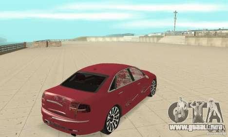 Audi A8L 4.2 FSI para la vista superior GTA San Andreas