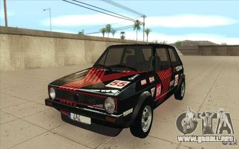 Volkswagen Golf Mk1 - Stock para vista inferior GTA San Andreas