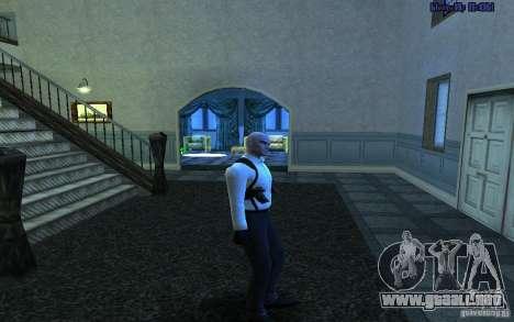 Agent 47 para GTA San Andreas quinta pantalla