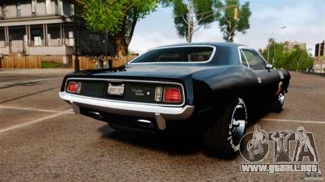 Plymouth Cuda 1971 [EPM] Mopar para GTA 4 Vista posterior izquierda