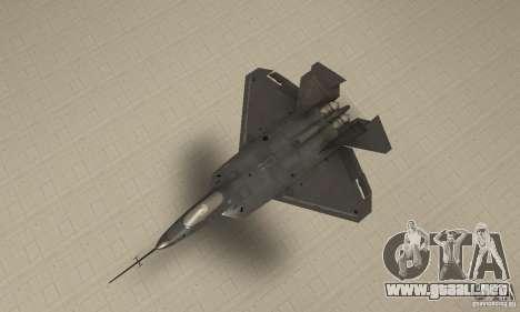 YF-22 Black para la visión correcta GTA San Andreas