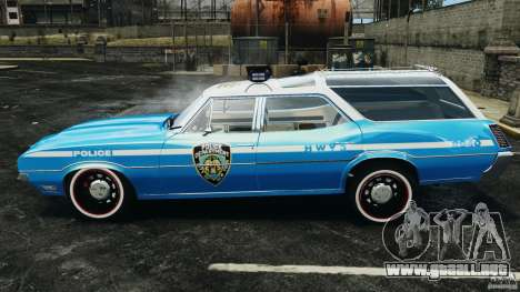 Oldsmobile Vista Cruiser 1972 Police v1.0 [ELS] para GTA 4 left