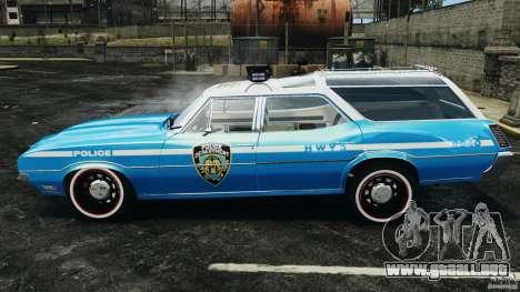Oldsmobile Vista Cruiser 1972 Police v1.0 [ELS] para GTA 4 left