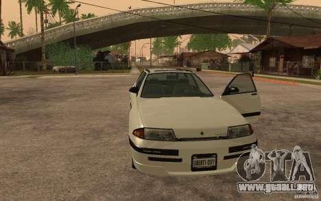 Estrato de GTA IV para GTA San Andreas vista posterior izquierda