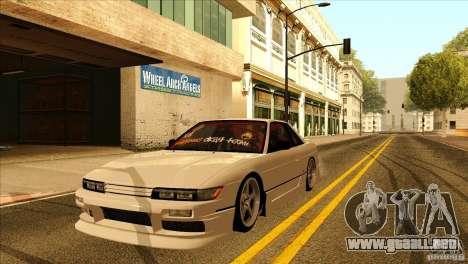 Nissan Silvia S13 MyGame Drift Team para vista lateral GTA San Andreas