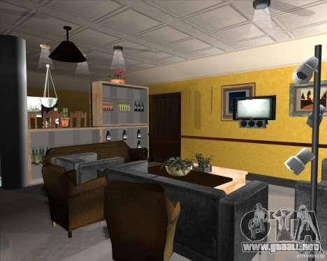 New Interior of CJs House para GTA San Andreas décimo de pantalla