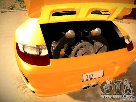 Porsche 911 para vista inferior GTA San Andreas