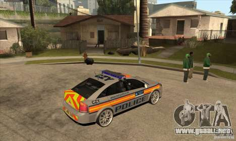 Opel Vectra 2009 Metropolitan Police para la visión correcta GTA San Andreas