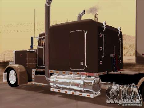 Peterbilt 359 Custom para GTA San Andreas vista hacia atrás
