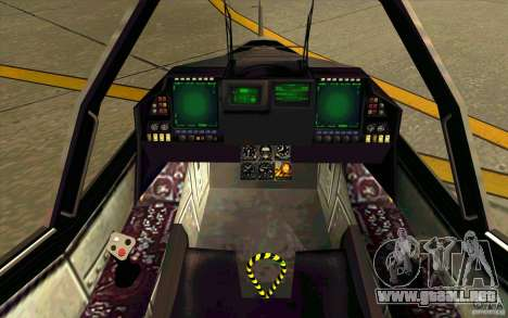 Lockheed F-35 Lightning II para la visión correcta GTA San Andreas