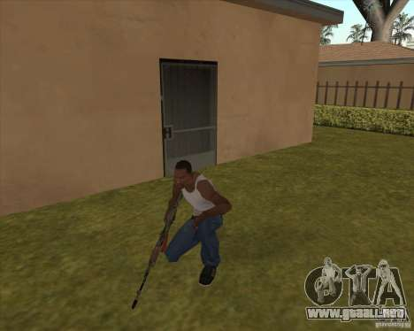 AK-74 con la textura de Metro 2033 para GTA San Andreas segunda pantalla