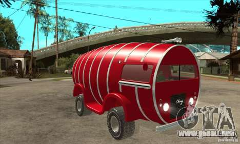 Beer Barrel Truck para GTA San Andreas vista hacia atrás
