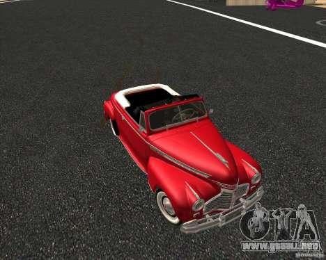 Chevrolet Special DeLuxe 1941 para GTA San Andreas vista hacia atrás