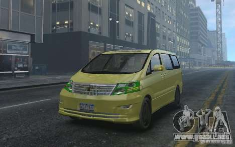 Toyota Alphard v2.0 para GTA 4 vista interior