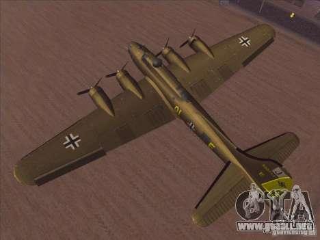 B-17G Flying Fortress para la visión correcta GTA San Andreas