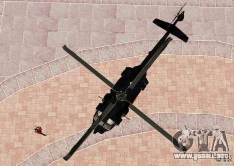 MH-60K Black Hawk para GTA 4 vista hacia atrás