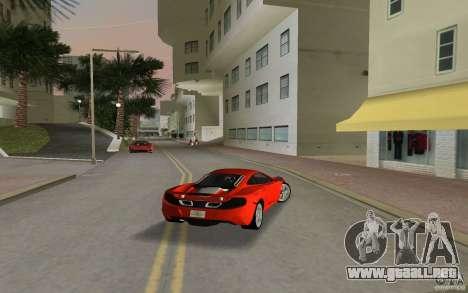 Mclaren MP4-12C para GTA Vice City visión correcta