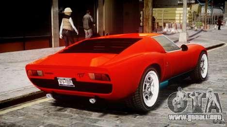 Lamborghini Miura P400 1966 para GTA 4 visión correcta