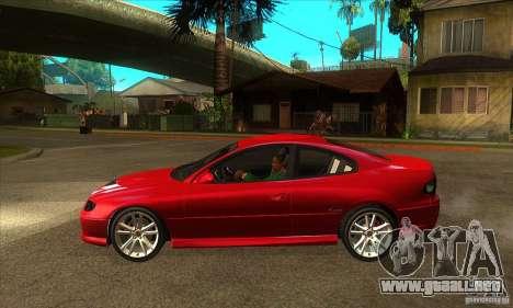 Holden Monaro CV8-R para GTA San Andreas left