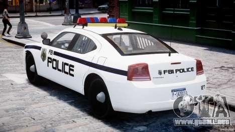 Dodge Charger FBI Police para GTA 4 visión correcta
