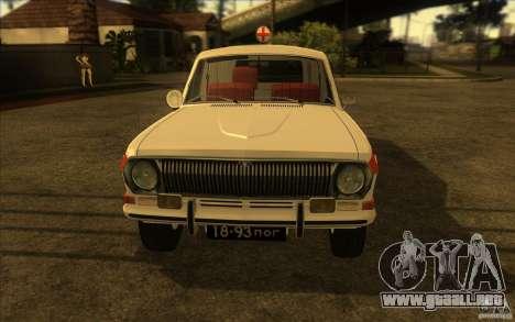 Ambulancia Volga GAZ-24 03 para la visión correcta GTA San Andreas