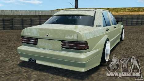 Deportivo Mercedes-Benz 190E 2.3-16 para GTA 4 Vista posterior izquierda