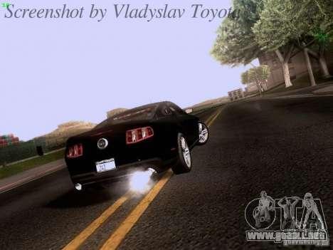 Ford Mustang GT 2011 Unmarked para la visión correcta GTA San Andreas