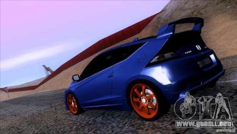 Honda CR-Z Mugen 2011 V1.0 para GTA San Andreas left