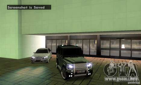 Mercedes Benz G500 ART FBI para la vista superior GTA San Andreas