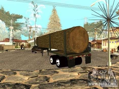 Árbol caído para GTA San Andreas vista posterior izquierda