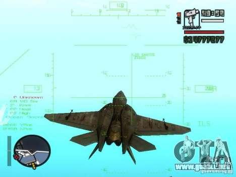 Xa-20 razorback para GTA San Andreas vista hacia atrás