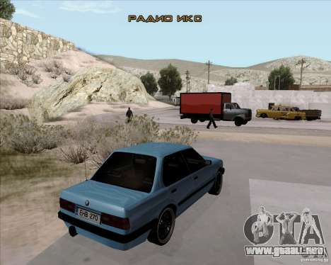 BMW M3 E30 323i street para GTA San Andreas vista posterior izquierda