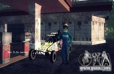 Buggy Monster energy para GTA San Andreas vista posterior izquierda