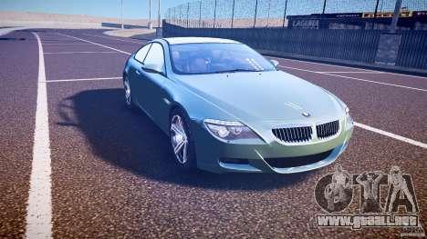 BMW M6 v1.0 para GTA 4 vista interior