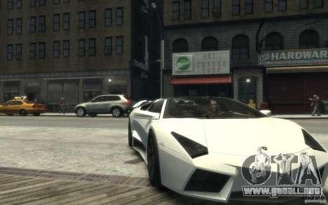 Lamborghini Reventon Roadster REDUX [EPM] para GTA 4 vista hacia atrás