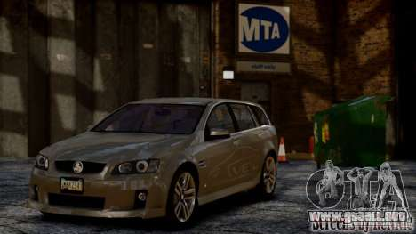 Holden VE Commodore Sportwagon SS 2009 para GTA 4 Vista posterior izquierda