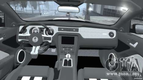 Ford Shelby GT500 2010 [Final] para GTA 4 visión correcta