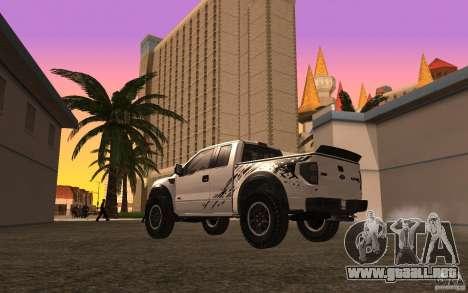Ford F150 SVT RapTor para la vista superior GTA San Andreas